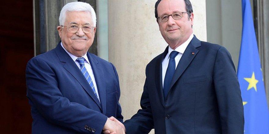 Fraçois Hollande ve Mahmut Abbas'dan İsrail'e Kınama