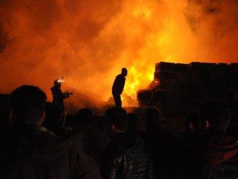 Bursa, İnegöl'de Abdurrahman İnce'ye Ait Soğuk Hava Deposunda Yangın