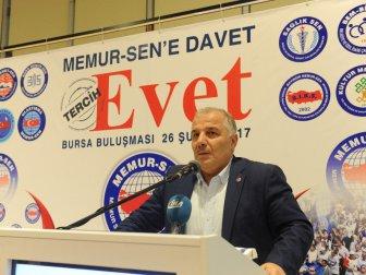 Memur-sen'den Bursa'da Referandum Toplantısı