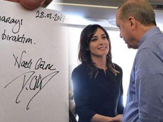 Nazlı Çelik Cumhurbaşkanı Erdoğan'a söz verdi..