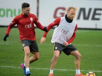 Galatasaray, Alanyaspor Maçı Hazırlıklarına Çift Antrenman Yaptı