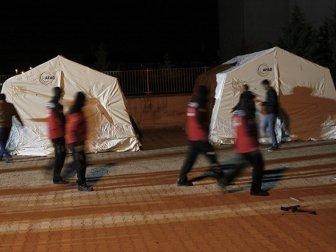 Adıyaman, Samsat'ta Çadırlar Kurulmaya Başlandı