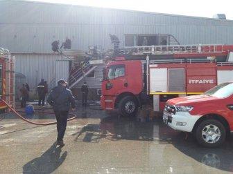 Balıkesir, Bandırma'da Beyaz Et Fabrikasının Kesimhanesinde Yangın