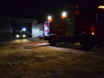 Biga, Çavuşköy Mahllesi'nde Plastik Fabrikasında Yangın