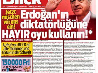İsviçre Blick Gazetesi Haddini Aştı