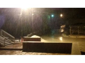 Doğanşehir'e Kar Yağdı