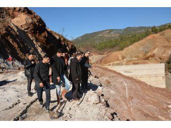 Coşkun, Alanya Yeniköy Baraj İnşaatını İnceledi