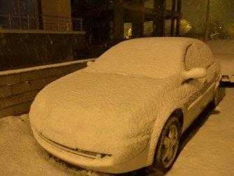 Erzincan'da Gece Saatlerinde Yağan Kar Şehri Beyaza Bürüdü