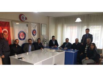 Aydın Mhp'den Türk Sağlık Sen'e Ziyaret