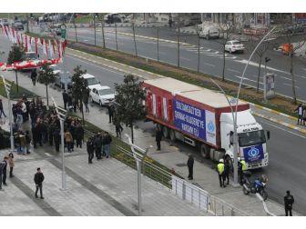 Sultangazi Belediyesi'nden Şırnak Uludere'ye 2 Tır Dolusu Yardım