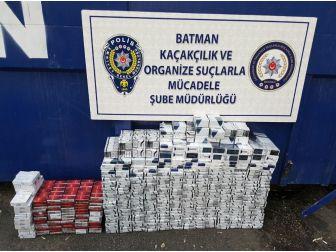 Batman'da 60 Bin Tl Değerinde Kaçak Sigara Ele Geçirildi