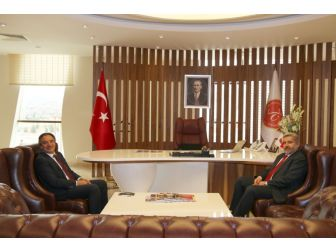 Aksaray Üniversitesi Rektörü Prof. Dr. Yusuf Şahin'den Rektör Bağlı'ya Ziyaret