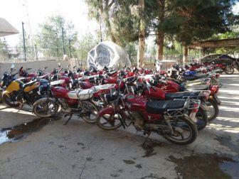 Şanlıurfa'da 80 Çalıntı Motosiklet Ele Geçirildi
