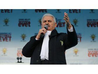 Başbakan Yıldırım: Üniter Devlet Yapısına Göz Diken Kim Varsa Millet Onun Gözünü Oyar