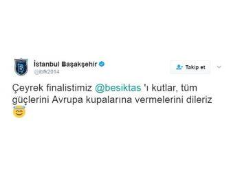 Başakşehir'den Beşiktaş'a Esprili Tebrik