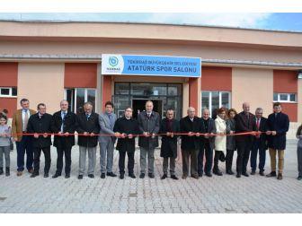 Büyükşehir Belediyesi Hayrabolu Atatürk Spor Salonu Tekirdağ Valiliğine Teslim Edildi