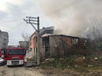 Malkara Kadıdüştü Sokakta Korkutan Yangın