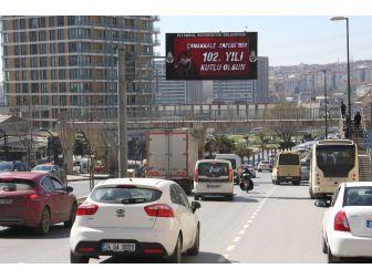 Trafik Levhalarında Çanakkale Zaferi Mesajı