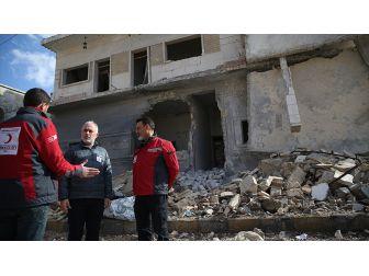 Türk Kızılayı Genel Başkanı Kınık Tahliye Çalışmaları İçin Bab'ta