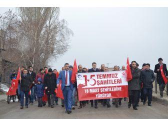 18 Mart Şehitleri İçin Yürüyüş Programı Düzenlendi
