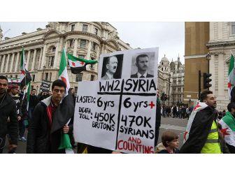 Londra'da Suriye Yürüyüşü Yapıldı