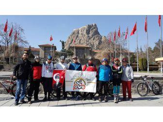 Afyon Pab Üyeleri Çanakkale Zaferi İçin Pedal Çevirdi