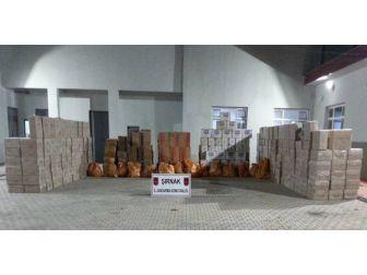 Şırnak'ta 105 Bin 486 Paket Kaçak Sigara Ele Geçirildi