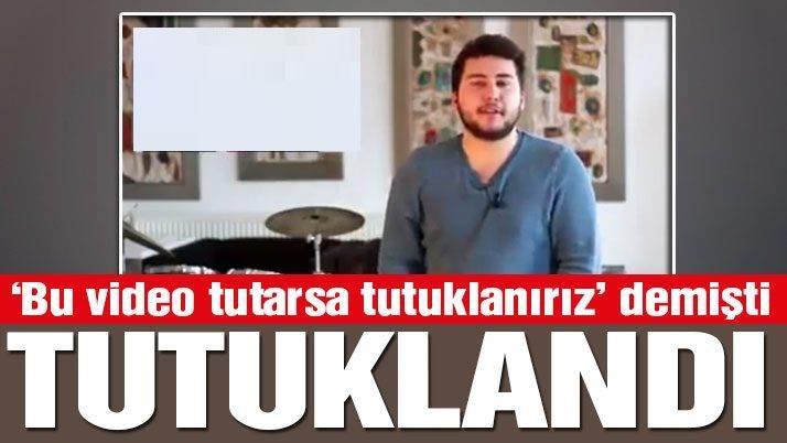 """""""Hayır Nedir"""" videosu çeken Ali Gül tutuklandı"""