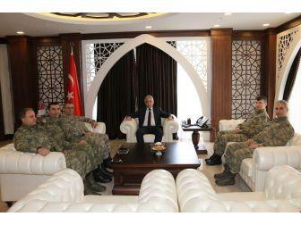 Tümen Komutanı Tokel'den Vali Toprak'a Ziyaret
