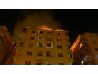 Çatı Yangını Paniğe Neden Oldu