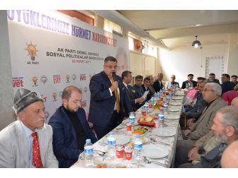 Başkan Yağcı Ve Ak Parti İl Teşkilatı Üyeleri Yaşlılarla Bir Araya Geldi