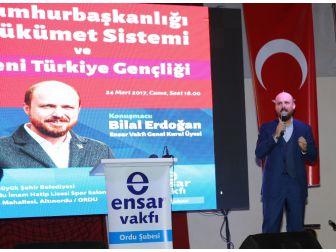 """Bilal Erdoğan: """"16 Nisan'da Geleceğimizin Bağımsızlık Anlayışı Üzerinde İnşa Edilmesine Karar Vereceğiz"""""""