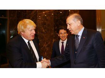 Cumhurbaşkanı Erdoğan, İngiltere Dışişleri Bakanı Boris Johnson'u Kabul Etti