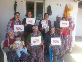 Bozdoğanlı Ak Kadınlar 'Evet' İçin Çalışıyor