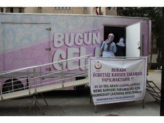 'Pembe Prenses Kanser Tarama Aracı' Diyarbakır, Silvan'a Geldi