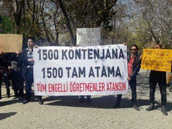 Engelli Öğretmenler Atama İstedi