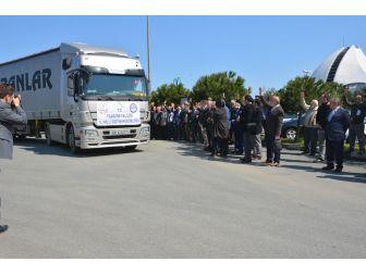 Trabzon'dan Suriye'ye 8 Tır Dolusu Yardım Malzemesi