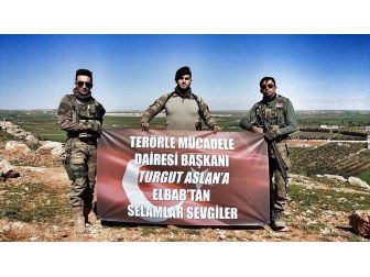 Bab'daki Askerlerden 'Yaşayan Halisdemir'e Selam