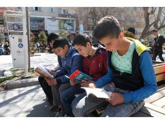 Park İçerisinde Kitap Okudular
