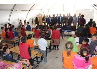 Samsat'ta Öğrencilere Trafik Eğitimi Veriliyor