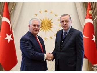 Cumhurbaşkanı Erdoğan, Abd Dışişleri Bakanını Kabul Etti