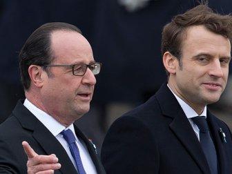 Hollande Ve Macron Yan Yana poz verdi