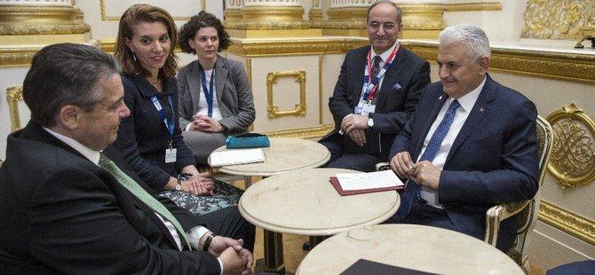Yıldırım, Almanya Dışişleri Bakanı Gabriel İle Görüştü