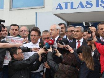 CHP Lideri Kemal Kılıçdaroğlu'ndan Sözcü Gazetesi'ne Destek Ziyareti