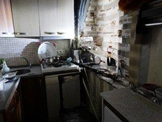 İzmit, Cedit Mahallesi'nde Mutfakta Çıkan Yangın Mahalleliyi Korkuttu