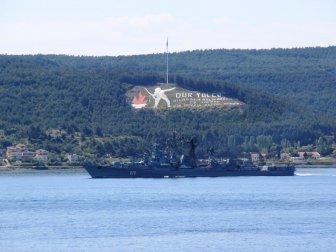 """Rus Donanmasına Ait """"Semetlivy"""" Çanakkale Boğazı'ndan Geçti"""