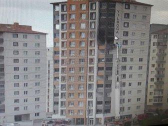 Kayseri'de Bir Binanın 9. Katında Çıkan Yangın Korku Dolu Anların Yaşanmasına Neden Oldu