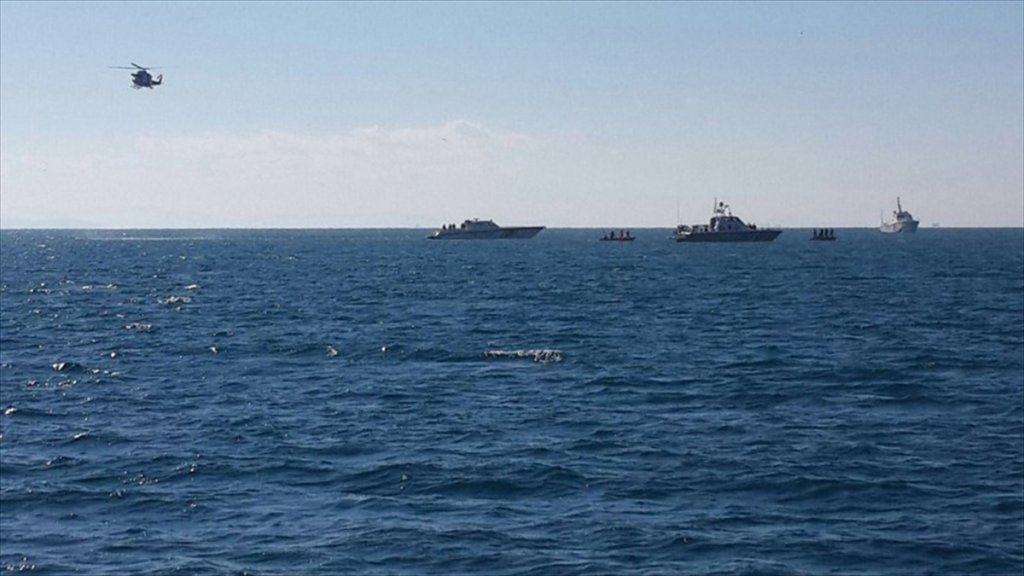 Yunanistan'da Skopelos adasında Savaş Uçağı Düştü