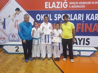 Okullar Arası Yıldızlar ve Küçükler Türkiye Karate Şampiyonasında Malatya'ya 1 Altın, 2 Gümüş Madalya