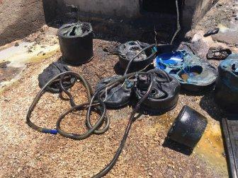 Şanlıurfa'da Akaryakıt Deposunda Yangın